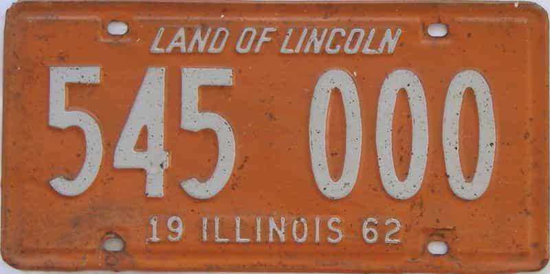 1962 IL (Single) license plate for sale