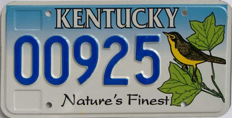 KY license plate for sale