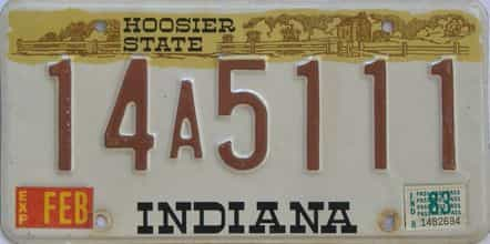 1983 Indiana license plate for sale