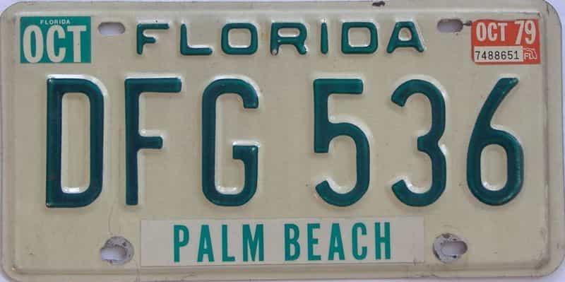 1979 FL license plate for sale