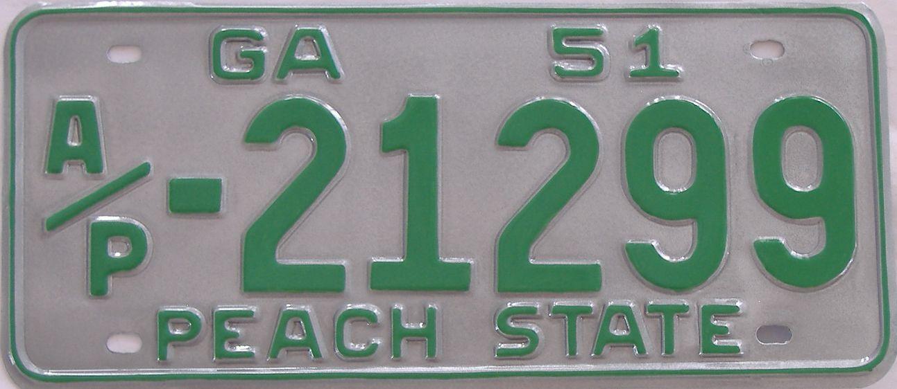 YOM RESTORED 1951 Georgia (Truck) license plate for sale