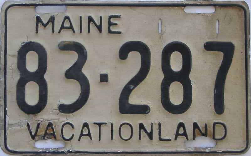 1950 ME (Single) license plate for sale