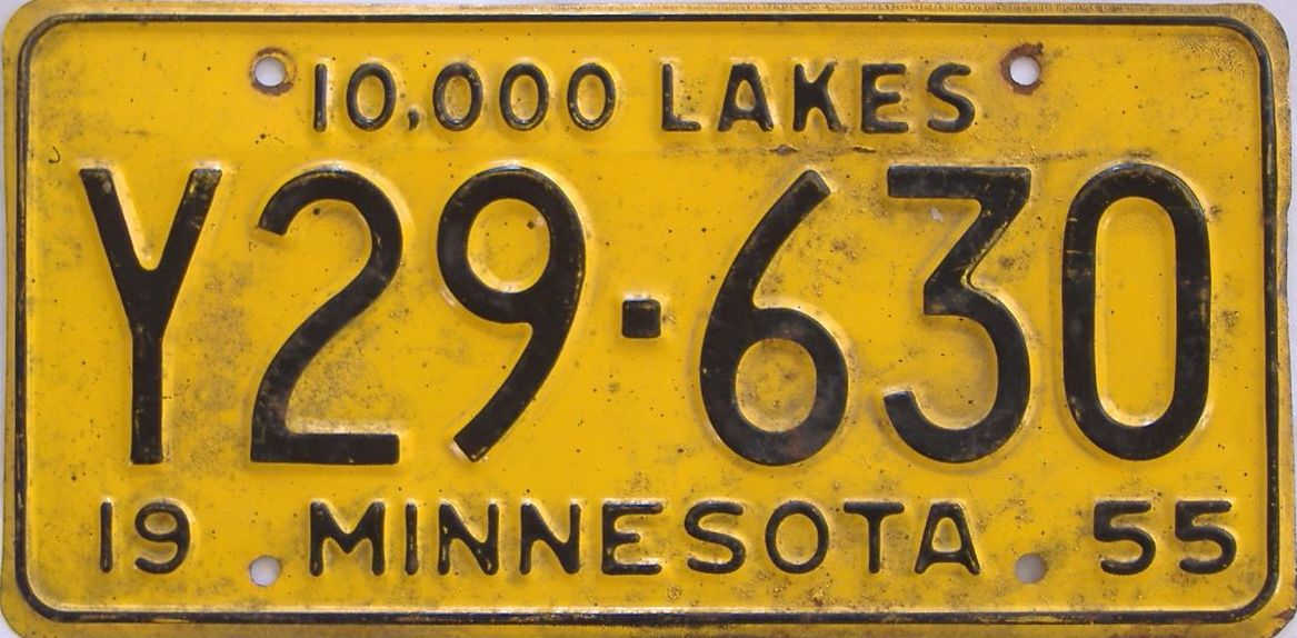1955 Minnesota (Truck) license plate for sale