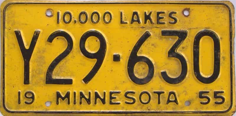 1955 MN (Truck) license plate for sale