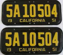 RESTORED 1951 California  (DMV NOT CLEAR) license plate for sale
