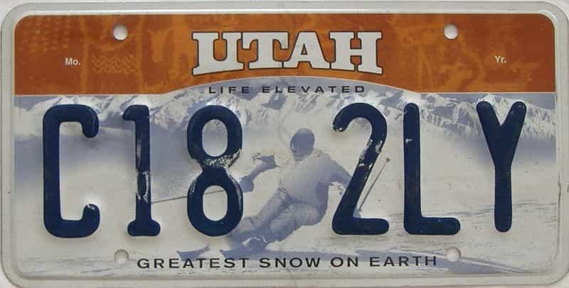 UT (Single) license plate for sale