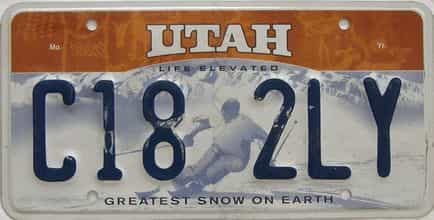 Utah (Single) license plate for sale