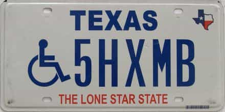 Texas (Handicap) license plate for sale