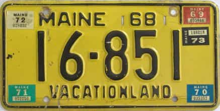 1972 Maine (Single) license plate for sale