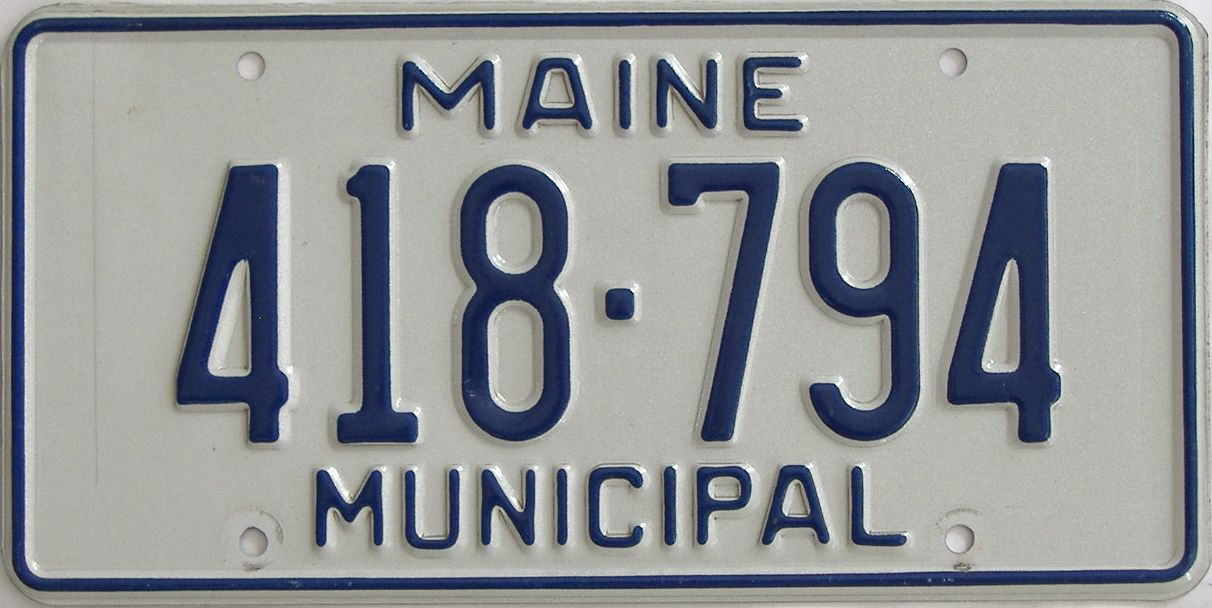 Maine (Non Pass) license plate for sale