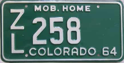 1964 Colorado (Non Passenger) license plate for sale