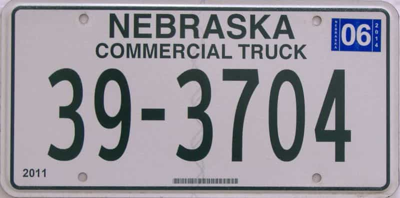 2006 NE (Truck) license plate for sale
