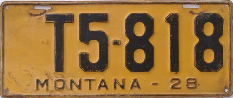 1928 Montana (Truck) license plate for sale