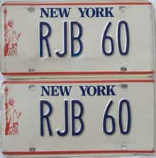 1986 New York  (Vanity) license plate for sale