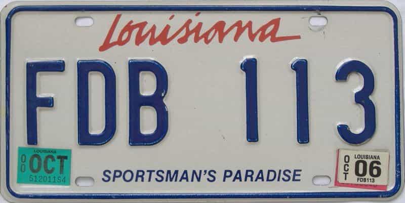 2006 Louisiana license plate for sale