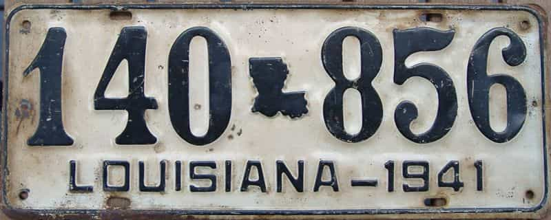 1941 Louisiana license plate for sale