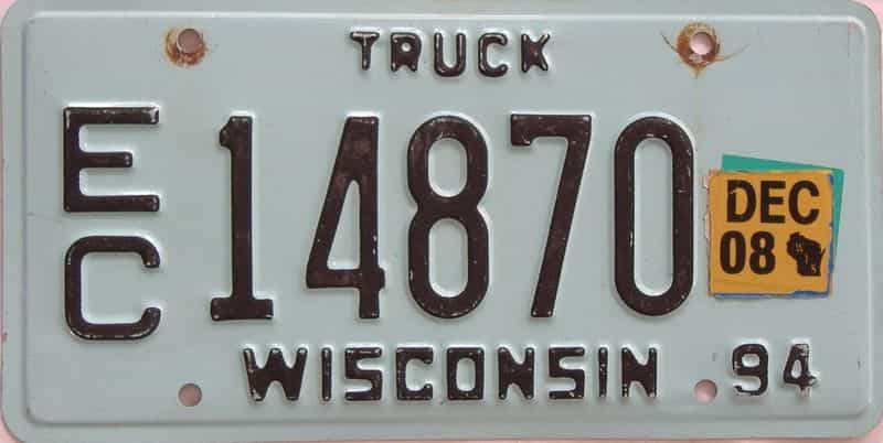 2008 Wisconsin  (Truck) license plate for sale