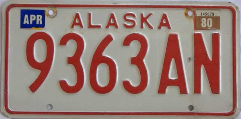 1980 Alaska  (Truck) license plate for sale