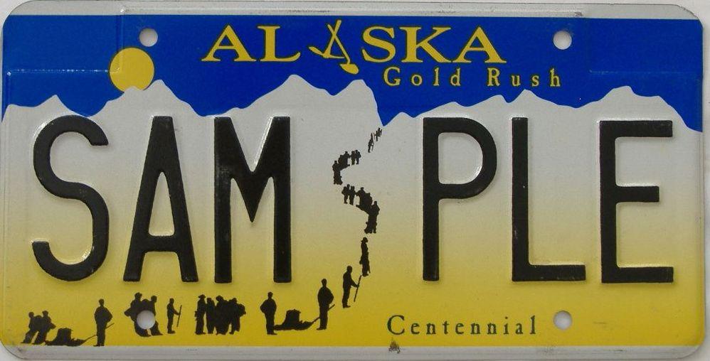 Alaska (Sample) license plate for sale