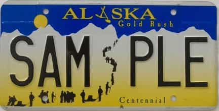 Alaska (Sample) license plate for sale
