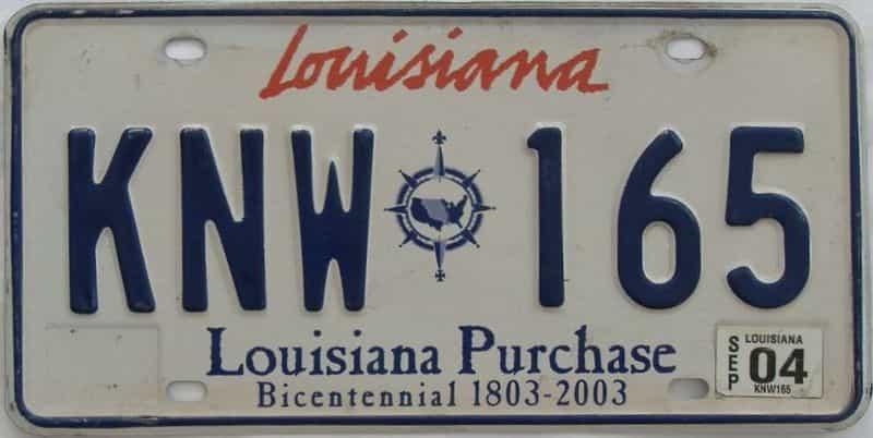 2004 Louisiana license plate for sale