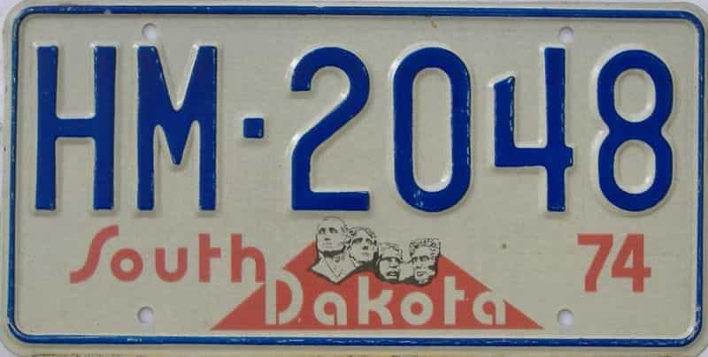 1974 SD (Single) license plate for sale