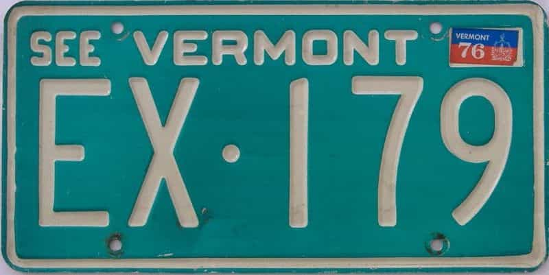 1976 VT (Single) license plate for sale