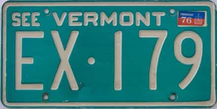 1976 Vermont (Single) license plate for sale