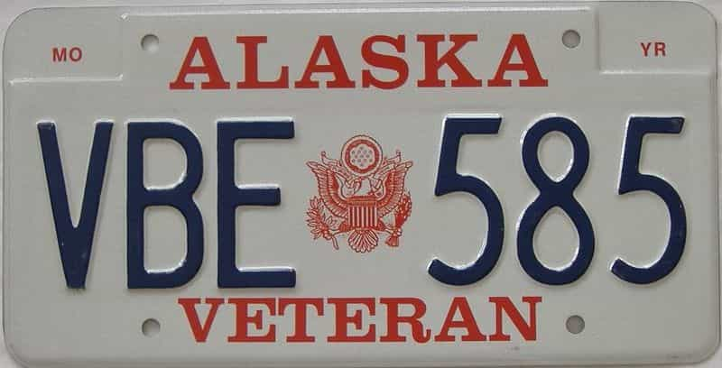 AK (Single) license plate for sale