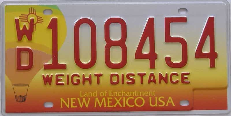 New Mexico  (Non Pass) license plate for sale