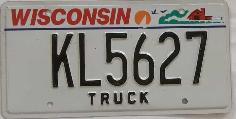 Wisconsin  (Truck) license plate for sale