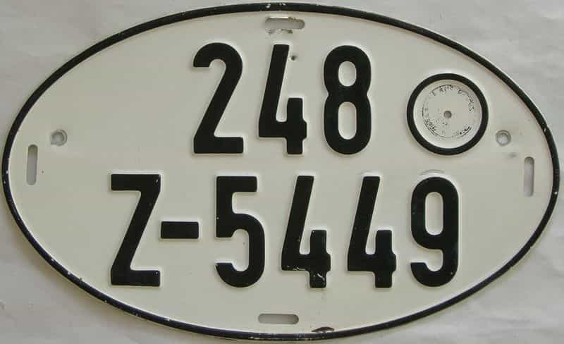 Foreign license plate for sale