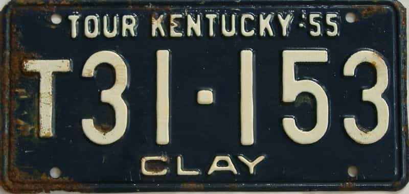 1955 Kentucky (Truck) license plate for sale