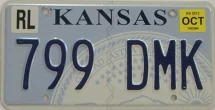 2013 Kansas (Natural) license plate for sale