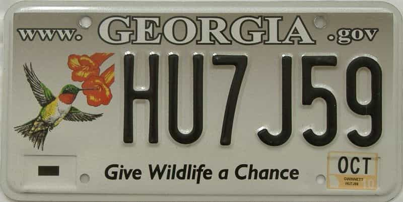 2010 GA license plate for sale