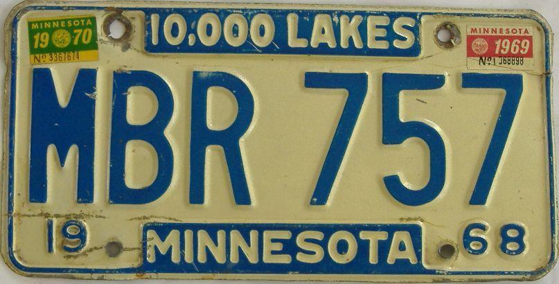 1970 Minnesota (Single) license plate for sale