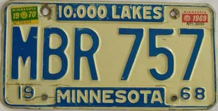1970 Minnesota (Single) license plate for sale