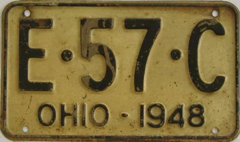 1948 OH (Single) license plate for sale