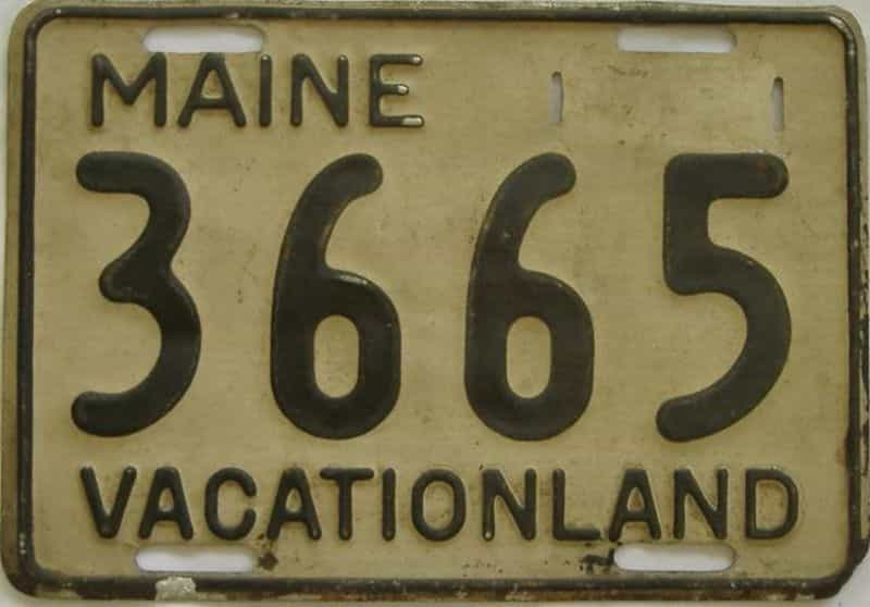 1950 Maine (Single) license plate for sale