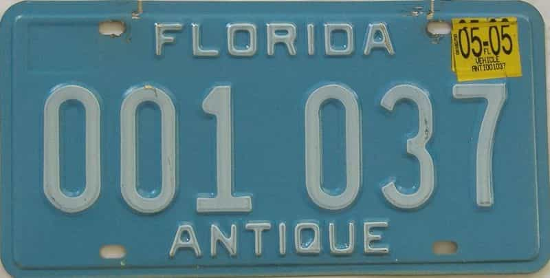 2005 Florida license plate for sale