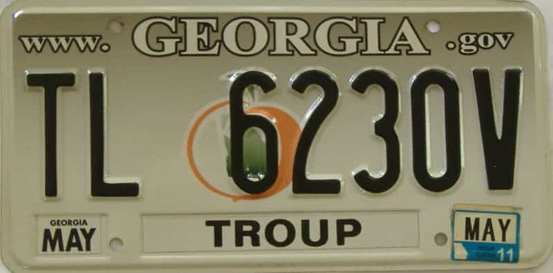 2011 GA license plate for sale