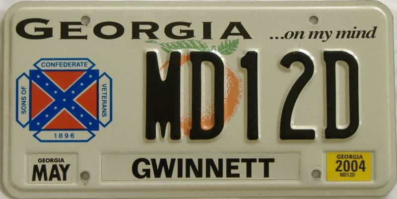 2004 GA license plate for sale