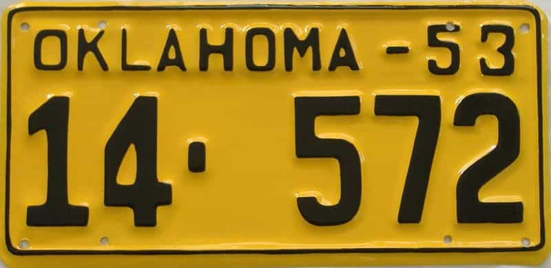 RESTORED 1953 OK license plate for sale