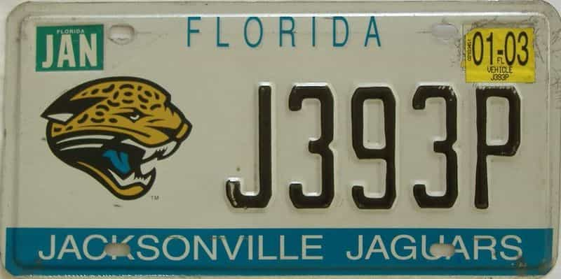 2003 Florida license plate for sale