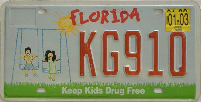 2003 FL license plate for sale