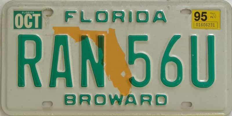 1995 FL license plate for sale