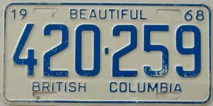 1968 CANADA (British Columbia)
