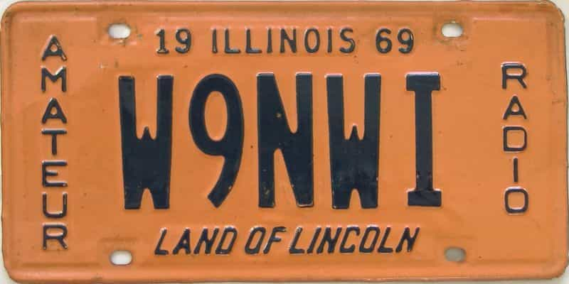 1969 Illinois  (Single) license plate for sale