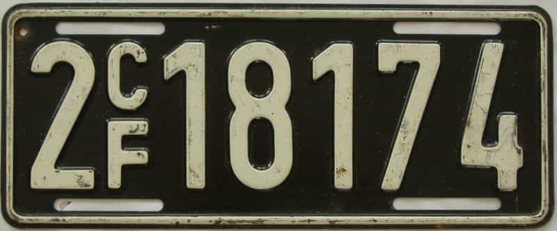 1961 Miscellaneous license plate for sale