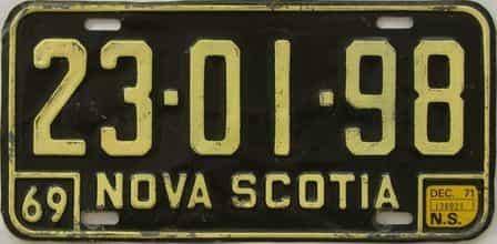 1971 CANADA (Nova Scotia)